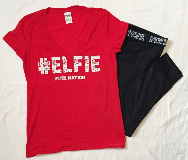 PINK Nation #ELFIE shirt and Gym Pant | Black Friday & Cyber Monday Haul