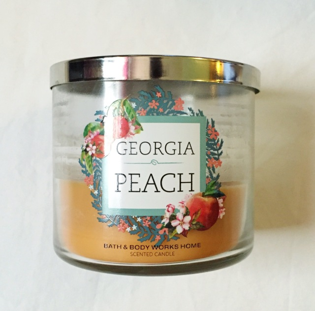 Bath & Body Works Candle in Georgia Peach | Mini Spring Haul