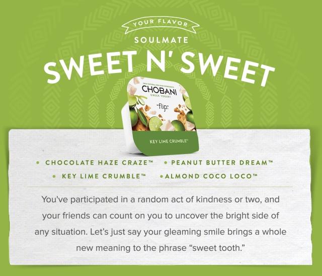 Sweet n' Sweet | Chobani Flips