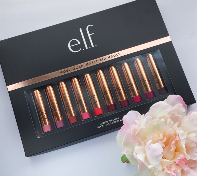 e.l.f. Cosmetics Rose Gold Matte Lip Vault Review